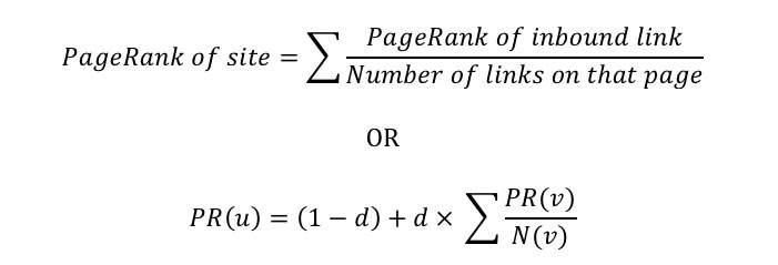 formula del pagerank