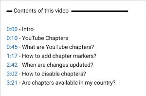 youtube seo video chapters