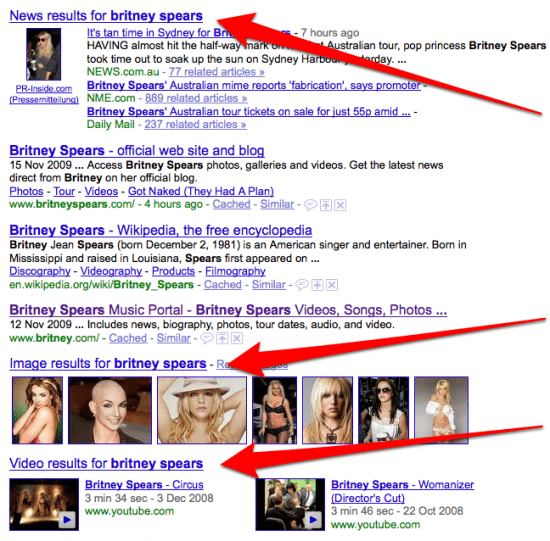 britney-spears-Google-universal-search