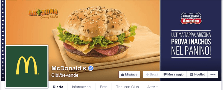 Mc Donalds su Facebook