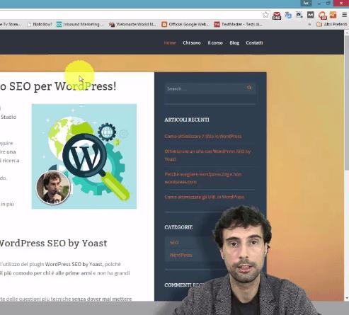 strumenti per i webmaster di google su sito wordpress