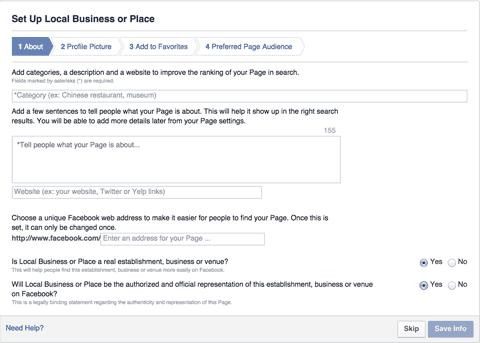 Come creare una pagina Facebook aziendale: pagina impresa locale