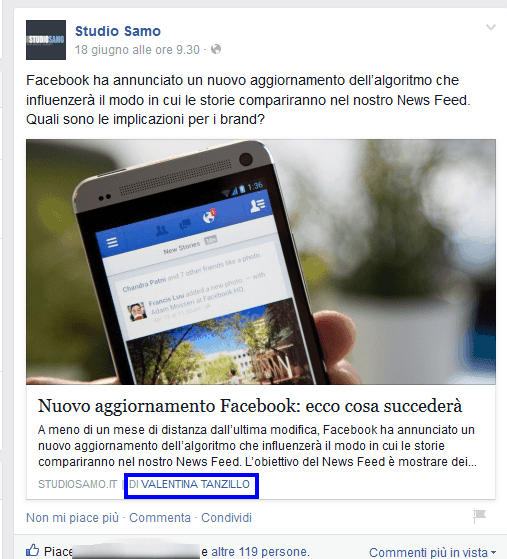 Come impostare la Facebook authorship