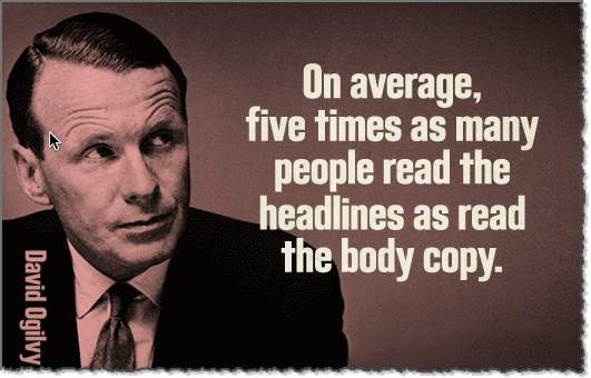 David Ogilvy importanza titolo