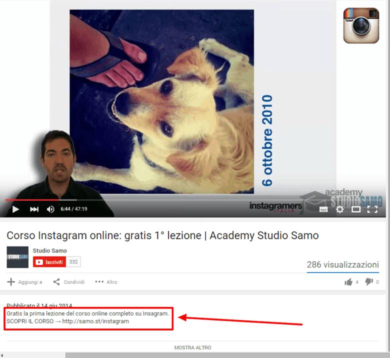descrizione youtube