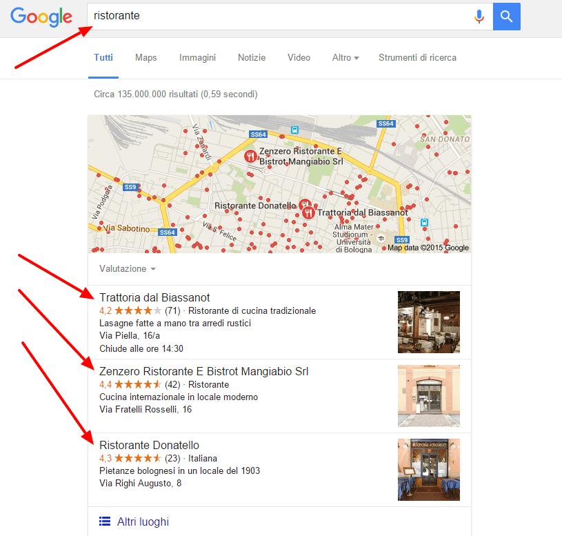 Cerca ristorante Google