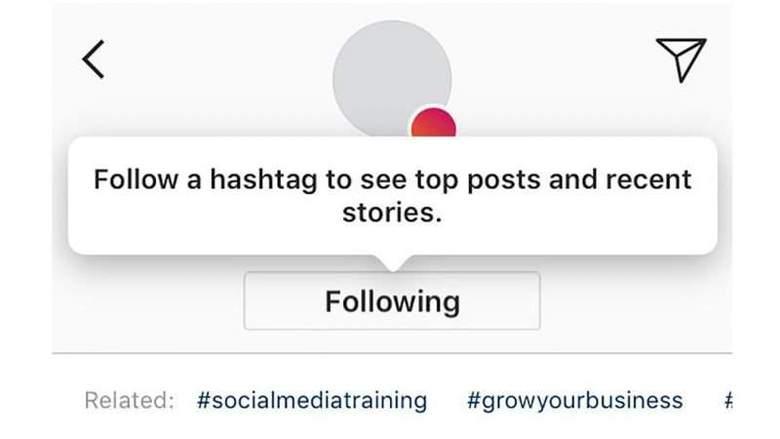 seguire hashtag instagram