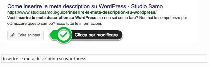 Come inserire le meta description su WordPress