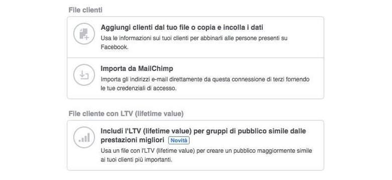 Creare un pubblico personalizzato con LTV