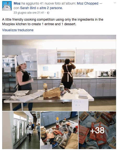 contenuti su facebook