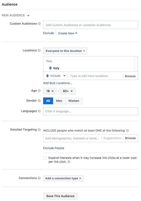 Impostare Pubblici Facebook