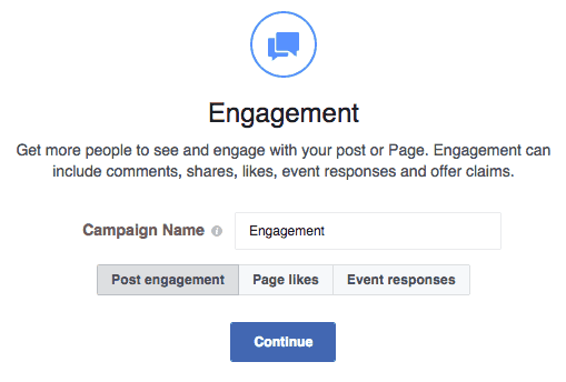 Obiettivo Campagna FB Engagement