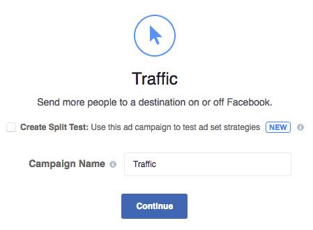 Obiettivo Campagna Fb Traffico