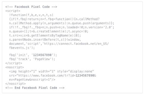 Pixel Code Facebook