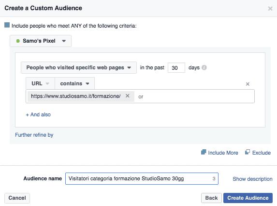 Visitatori Categoria Formazione FB Custom