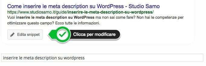 meta description - meta tag di google