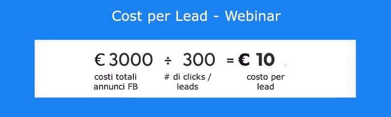 Costo per lead webinar
