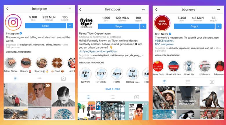 come usare storie in evidenza instagram