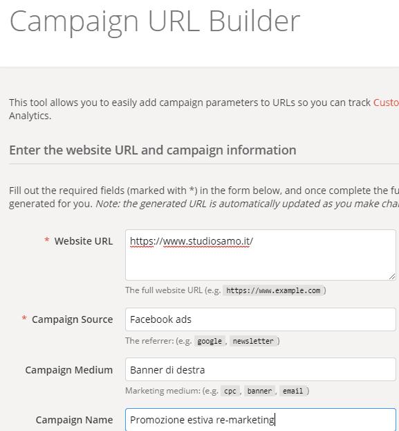 Tool Campaign url builder