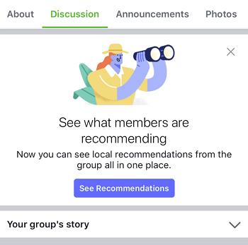 sezione consigli gruppi facebook