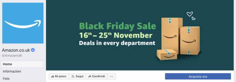 strategia social per il Black Friday