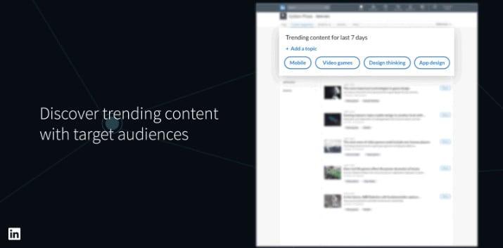 linkedIn contenuti suggeriti