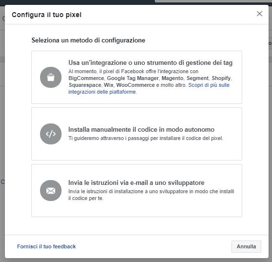 Come inserire il Pixel Facebook: 3 metodi