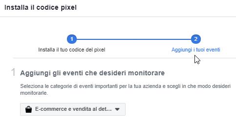 Configura il pixel