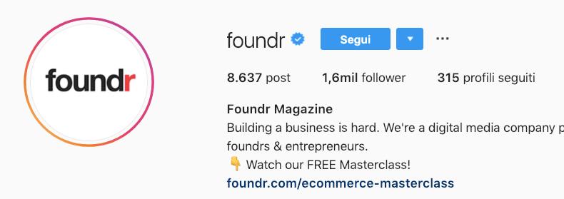 link nella bio instagram