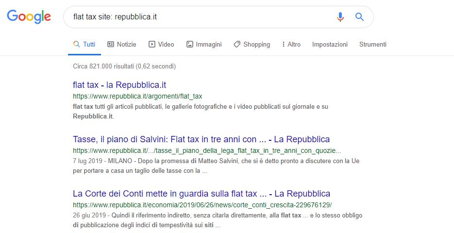 strumenti google per la ricerca