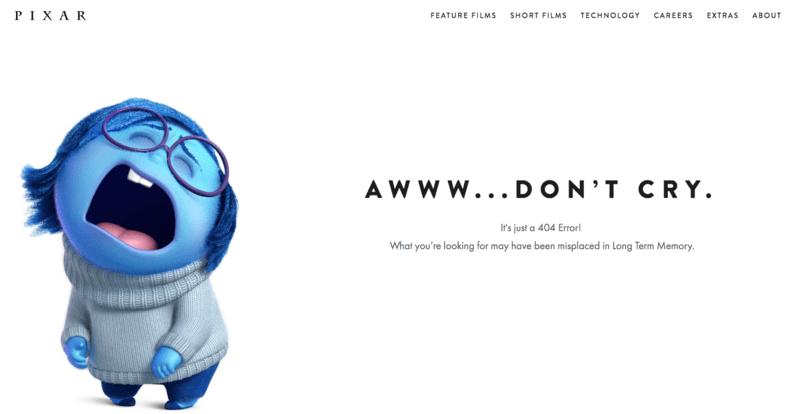 Pixar e la pagina 404.
