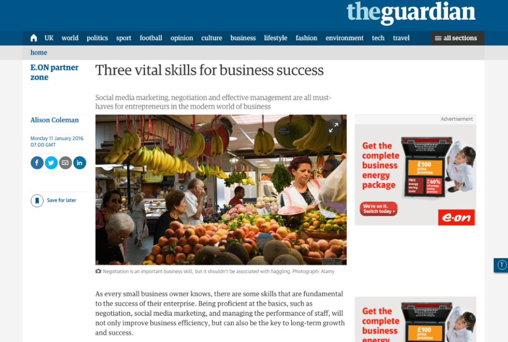 Digital PR articolo the Guardian