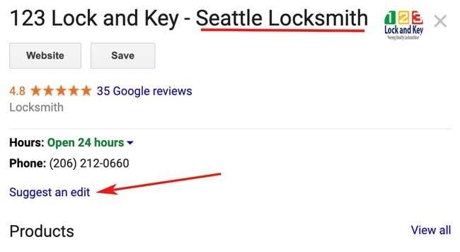 Come rimuovere o modificare lo spam in Google My Business