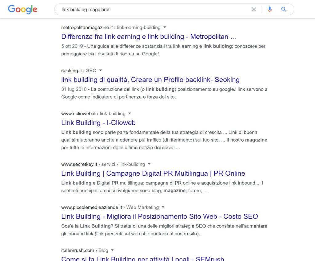 link building magazine - Cerca con Google