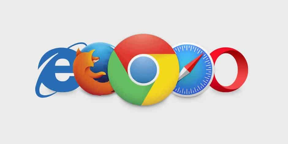 Browser più popolari: Chrome, MS Explorer, Firefox, MS Edge, Safari, Opera.