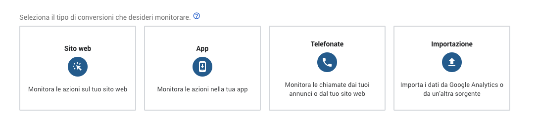 Tracciare una conversione in Google Ads