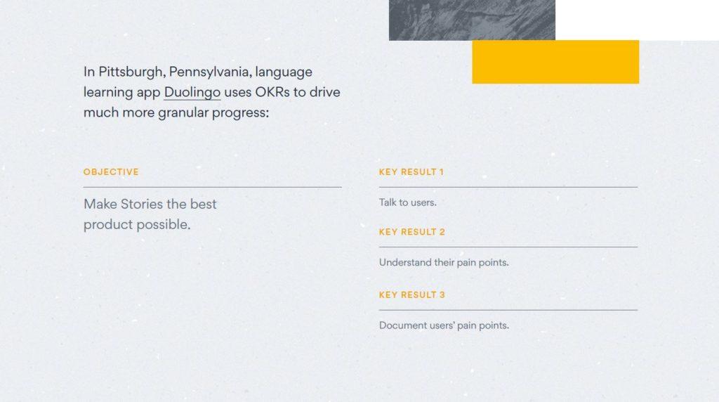 OKRs dell'azienda Duolinguo