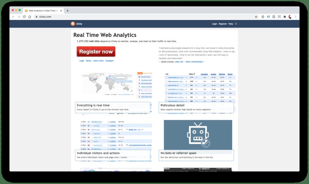Clicky - alternativa a Google Analytics