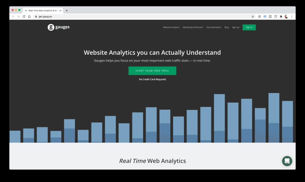 Gauges - alternativa a Google Analytics