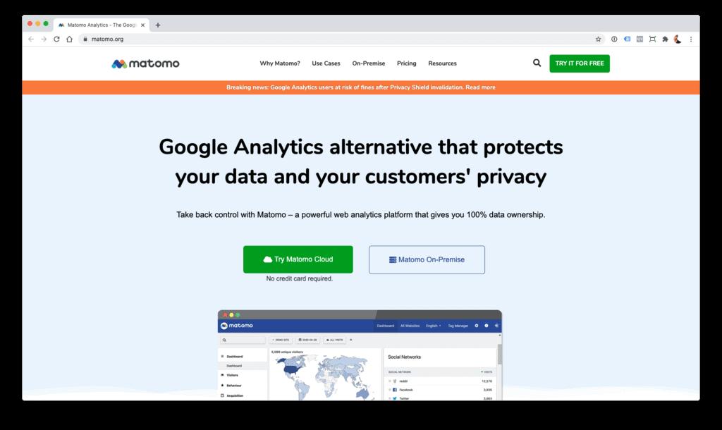 Matomo - alternativa a Google Analytics