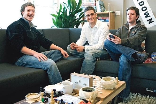Mark Zuckerberg, Dustin Moskovitz e Chris Hughes