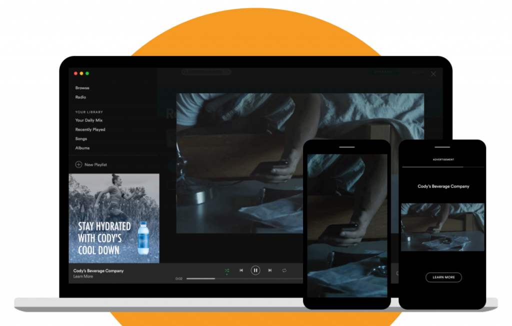 SPOTIFY ADVERTISING VIDEO TAKEOVER