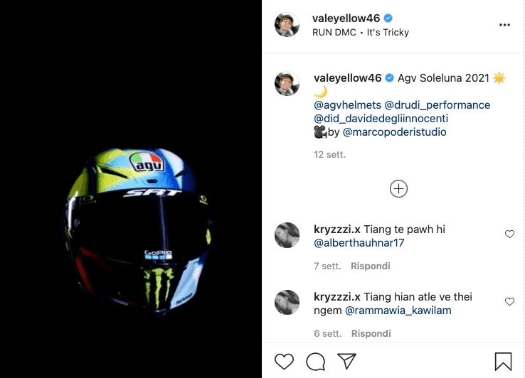 I post di Valentino Rossi e i suoi sponsor.