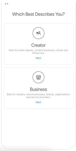 quale account Instagram creare