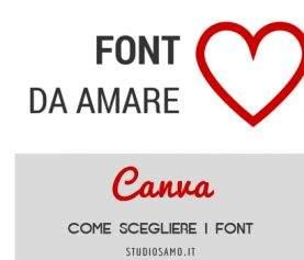 Visual Content: come scegliere i font su Canva