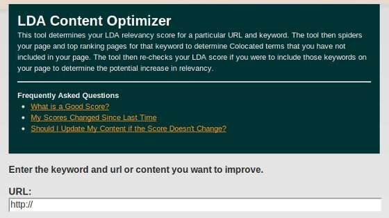 LDA Content Optimizer