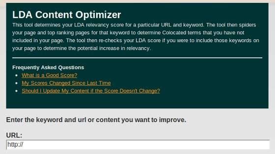 LDA Content Optimizer
